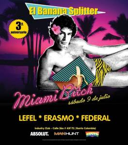 El Banana Splitter party flyer - Miami Bitch